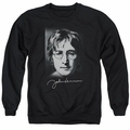 John Lennon adult crewneck sweatshirt Sketch Black