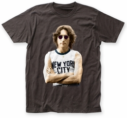John Lennon NYC Color fitted jersey tee coal mens pre-order