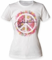 John Lennon Peace juniors crew white womens pre-order