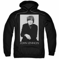 John Lennon pull-over hoodie Ex Beatle adult Black
