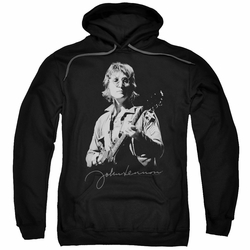 John Lennon pull-over hoodie Iconic adult Black