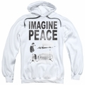 John Lennon pull-over hoodie Imagine adult White