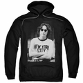 John Lennon pull-over hoodie New York adult Black