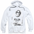 John Lennon pull-over hoodie New York adult White
