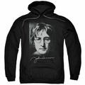 John Lennon pull-over hoodie Sketch adult Black