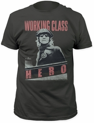 John Lennon working class hero fitted jersey tee charcoal t-shirt pre-order