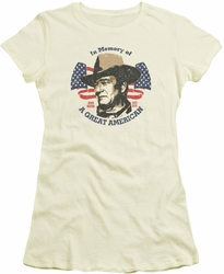 John Wayne juniors t-shirt Great American cream