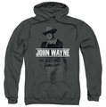 John Wayne pull-over hoodie Fade Off adult charcoal