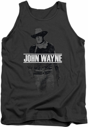 John Wayne tank top Fade Off mens charcoal
