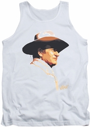 John Wayne tank top Painted Profile mens white