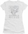 Johnny Bravo juniors t-shirt Bravo Style white