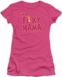 Johnny Bravo juniors t-shirt Foxy Mama hot pink
