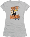 Johnny Bravo juniors t-shirt Hey Mama silver