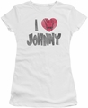 Johnny Bravo juniors t-shirt I Heart Johnny white