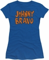 Johnny Bravo juniors t-shirt Logo royal blue