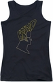 Johnny Bravo juniors tank top Bravo Hair black