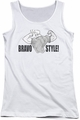 Johnny Bravo juniors tank top Bravo Style white