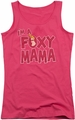 Johnny Bravo juniors tank top Foxy Mama hot pink