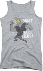 Johnny Bravo juniors tank top Hair athletic heather