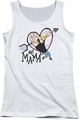 Johnny Bravo juniors tank top Hey Mama white