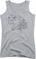 Johnny Bravo juniors tank top Jb Line Art athletic heather