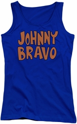 Johnny Bravo juniors tank top Jb Logo royal