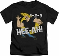 Johnny Bravo kids t-shirt 123 black