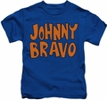 Johnny Bravo kids t-shirt JB Logo royal blue