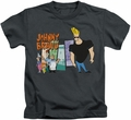 Johnny Bravo kids t-shirt Johnny & Friends charcoal