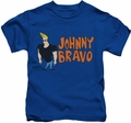 Johnny Bravo kids t-shirt Johnny Logo royal