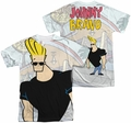 Johnny Bravo mens full sublimation t-shirt Hanging Out