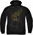 Johnny Bravo pull-over hoodie Bravo Hair adult black