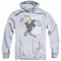 Johnny Bravo pull-over hoodie Hair adult athletic heather