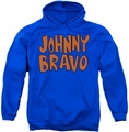 Johnny Bravo pull-over hoodie JB Logo adult royal blue