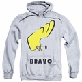Johnny Bravo pull-over hoodie Johnny Hair adult athletic heather