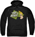 Johnny Bravo pull-over hoodie Oohh Mama adult black