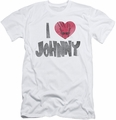 Johnny Bravo slim-fit t-shirt I Heart Johnny mens white