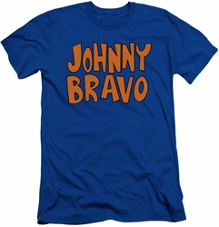 Johnny Bravo slim-fit t-shirt Jb Logo mens royal blue