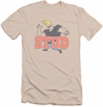 Johnny Bravo slim-fit t-shirt Stud mens cream