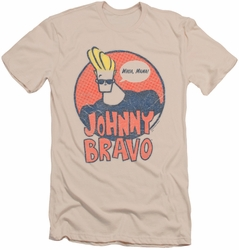 Johnny Bravo slim-fit t-shirt Wants Me mens cream