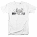 Johnny Bravo t-shirt Bravo Style mens white