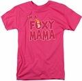 Johnny Bravo t-shirt Foxy Mama mens hot pink