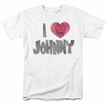 Johnny Bravo t-shirt I Heart Johnny mens white