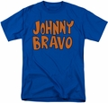Johnny Bravo t-shirt JB Logo mens royal blue