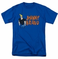 Johnny Bravo t-shirt Johnny Logo mens royal