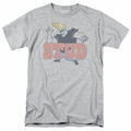 Johnny Bravo t-shirt Stud mens athletic heather