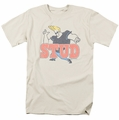 Johnny Bravo t-shirt Stud mens cream