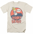 Johnny Bravo t-shirt Wants Me mens cream