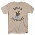 Johnny Bravo t-shirt Whoa Momma mens sand