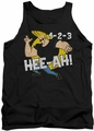 Johnny Bravo tank top 123 mens black